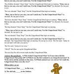 Gingerbread Man Worksheet   Free Esl Printable Worksheets Made   Free Printable Version Of The Gingerbread Man Story