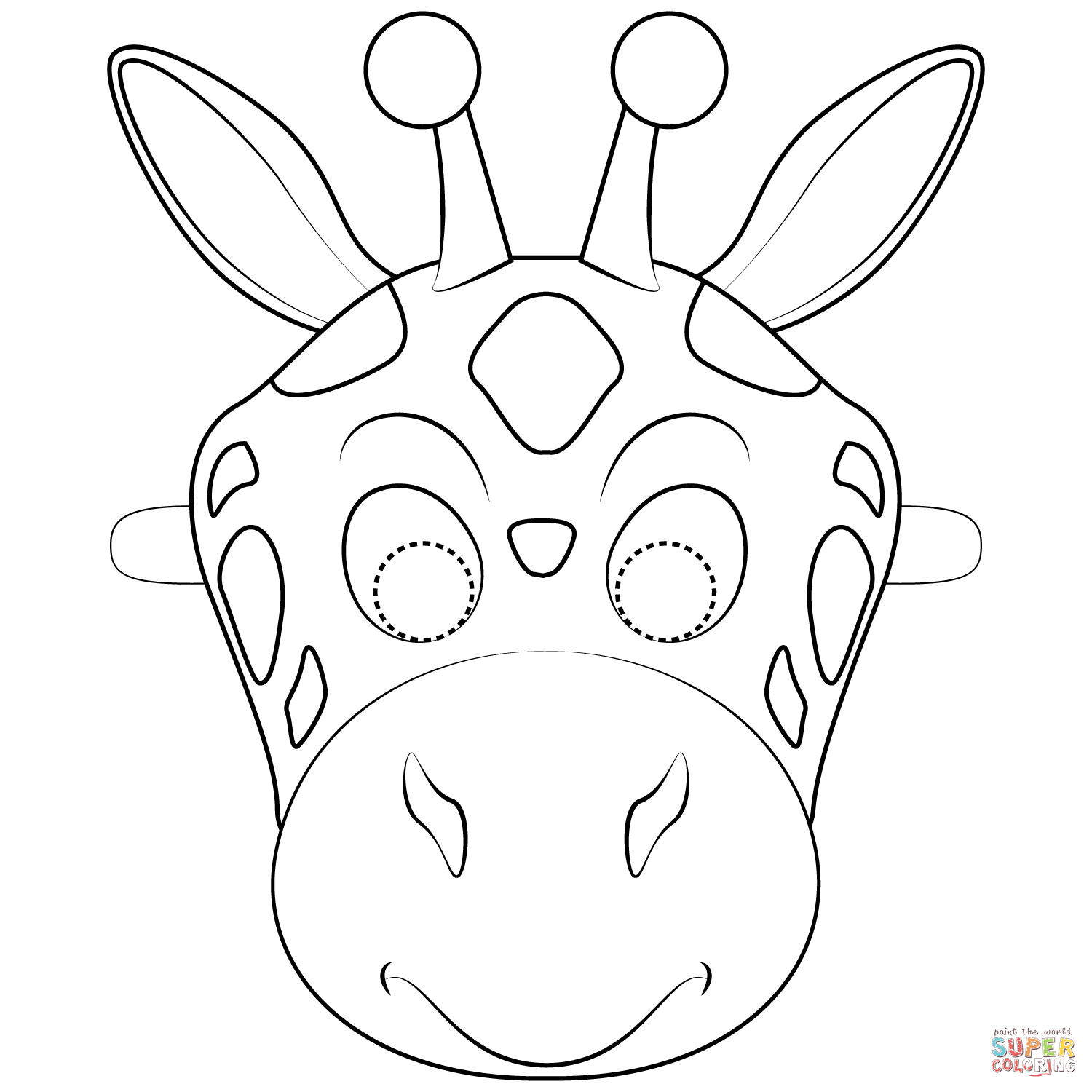 Giraffe Mask Coloring Page | Free Printable Coloring Pages - Giraffe Mask Template Printable Free
