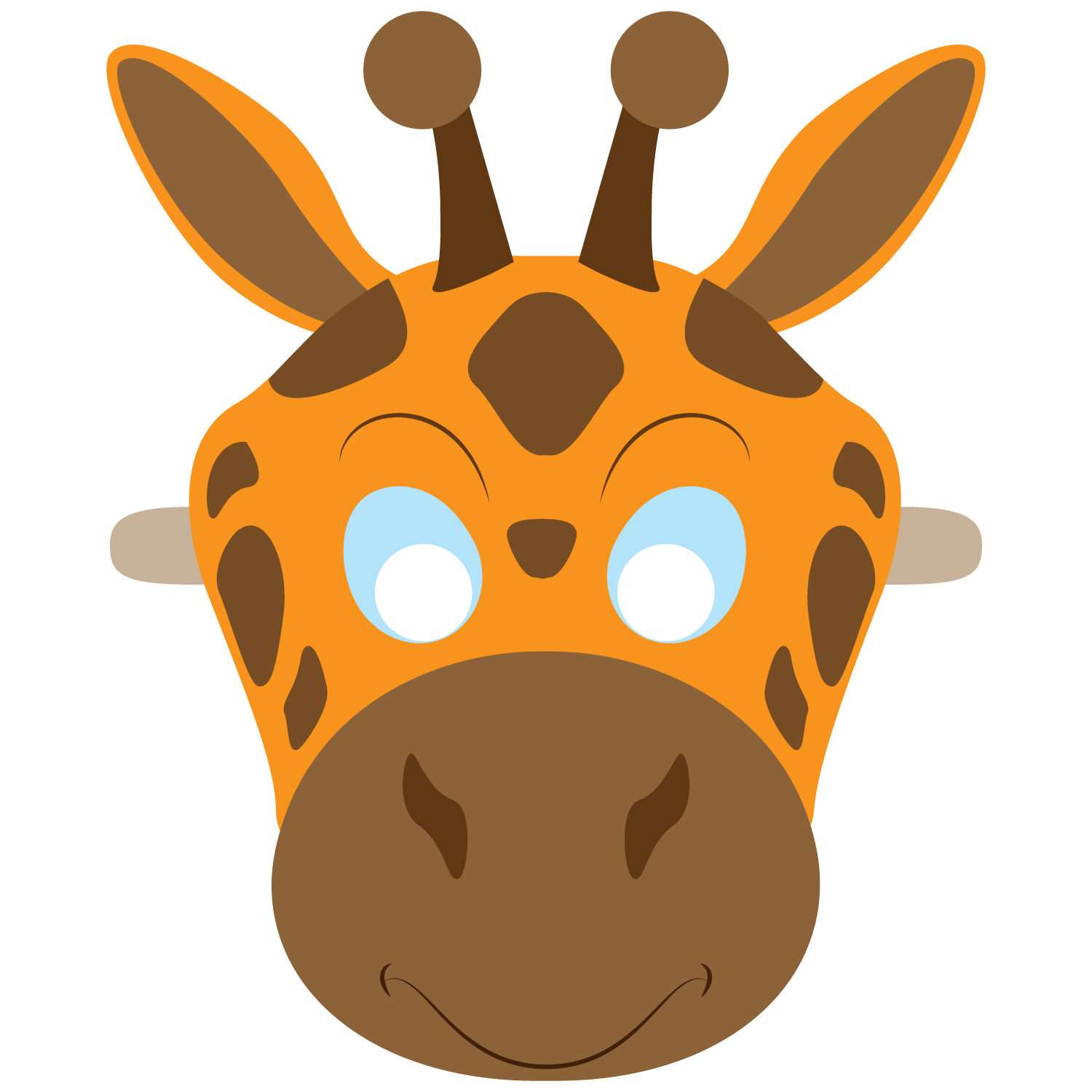 Giraffe Mask Template | Free Printable Papercraft Templates - Giraffe Mask Template Printable Free
