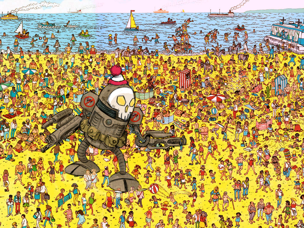 "Going To Print Out A Few Of These ""where's Waldo"" Pictures And Add - Where Waldo Printable Free"