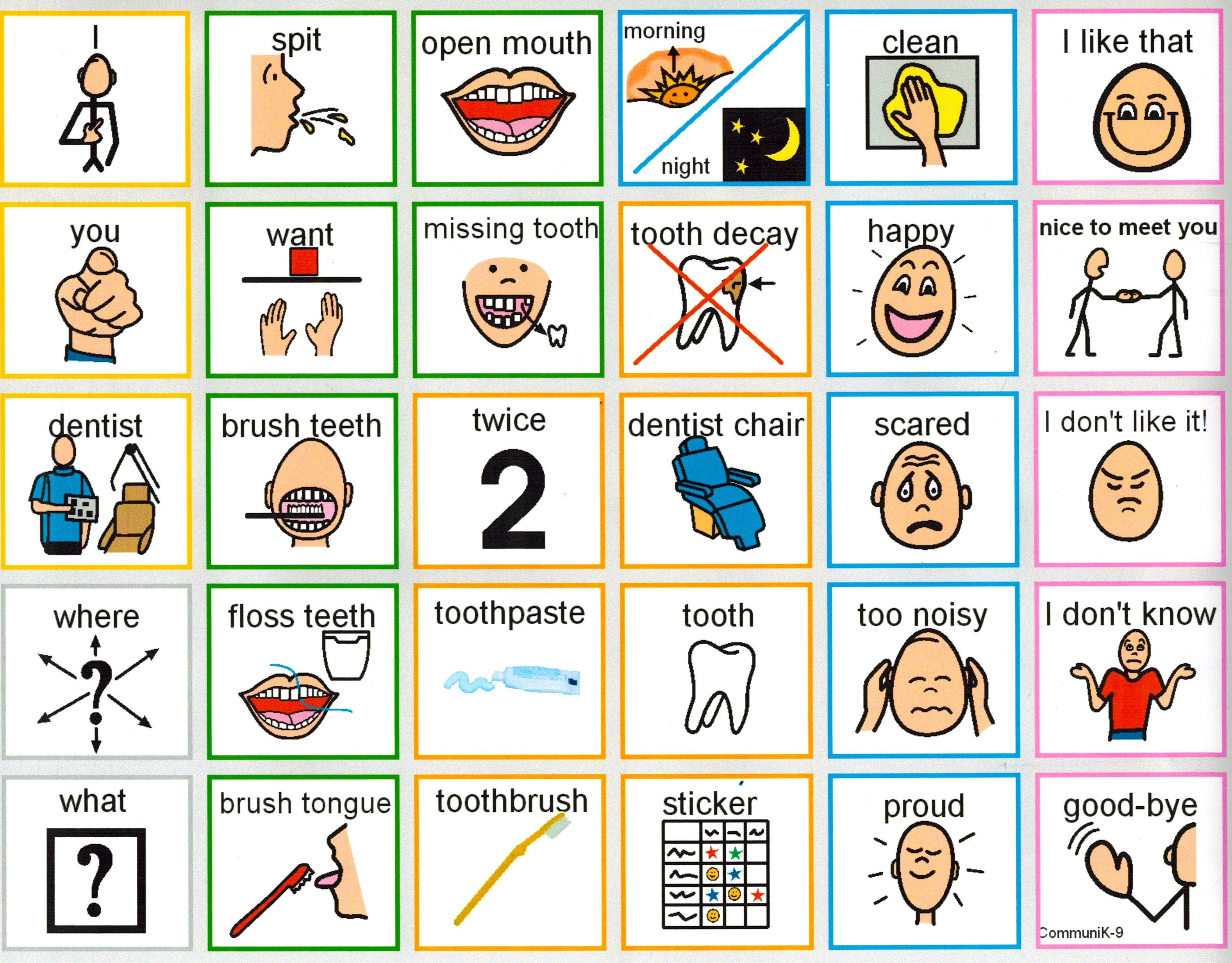 Going To The Dentist Communication Board | Aac- Medical And - Free Printable Communication Boards For Adults
