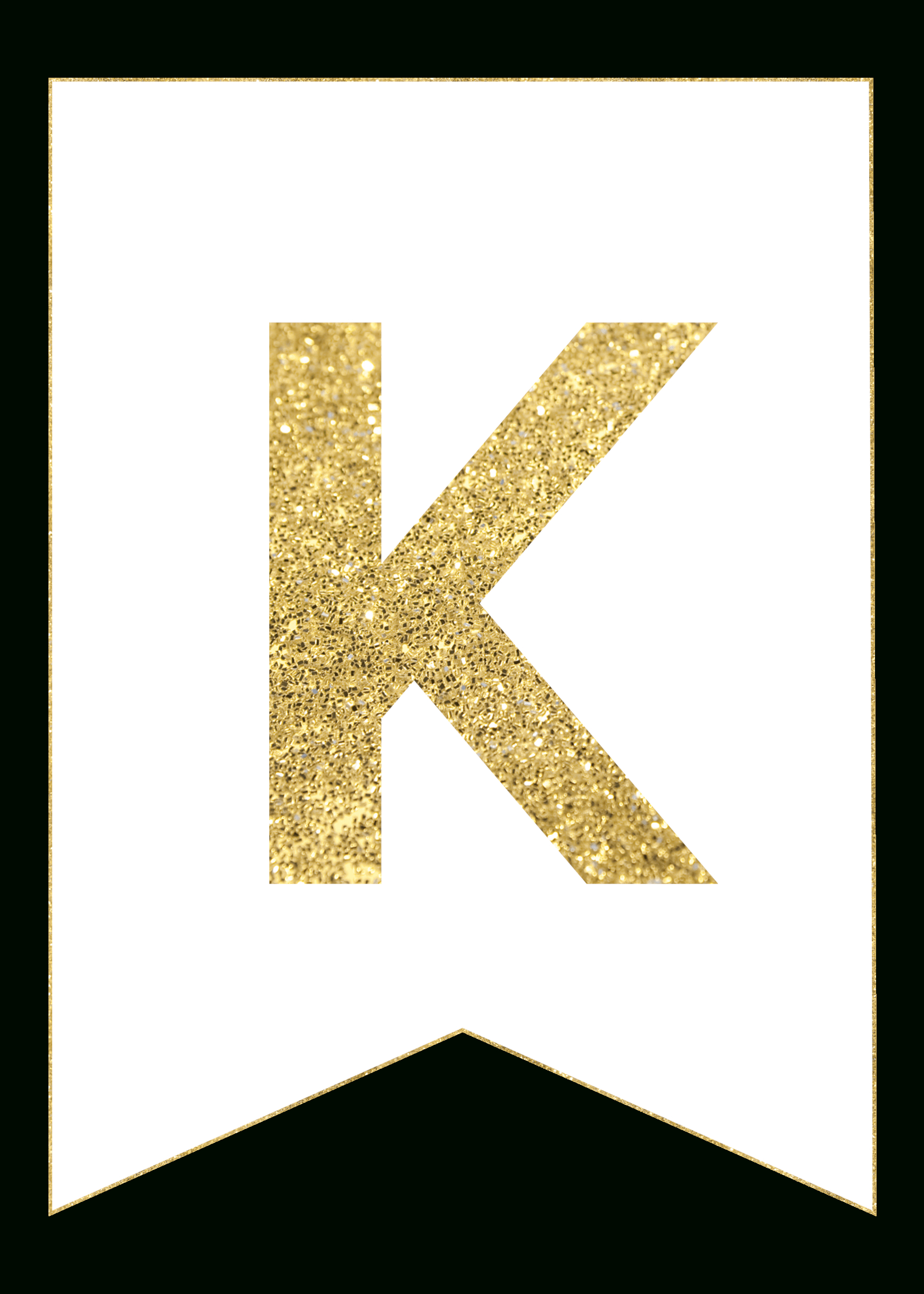 Gold Free Printable Banner Letters - Paper Trail Design - Free Printable Banner Letters