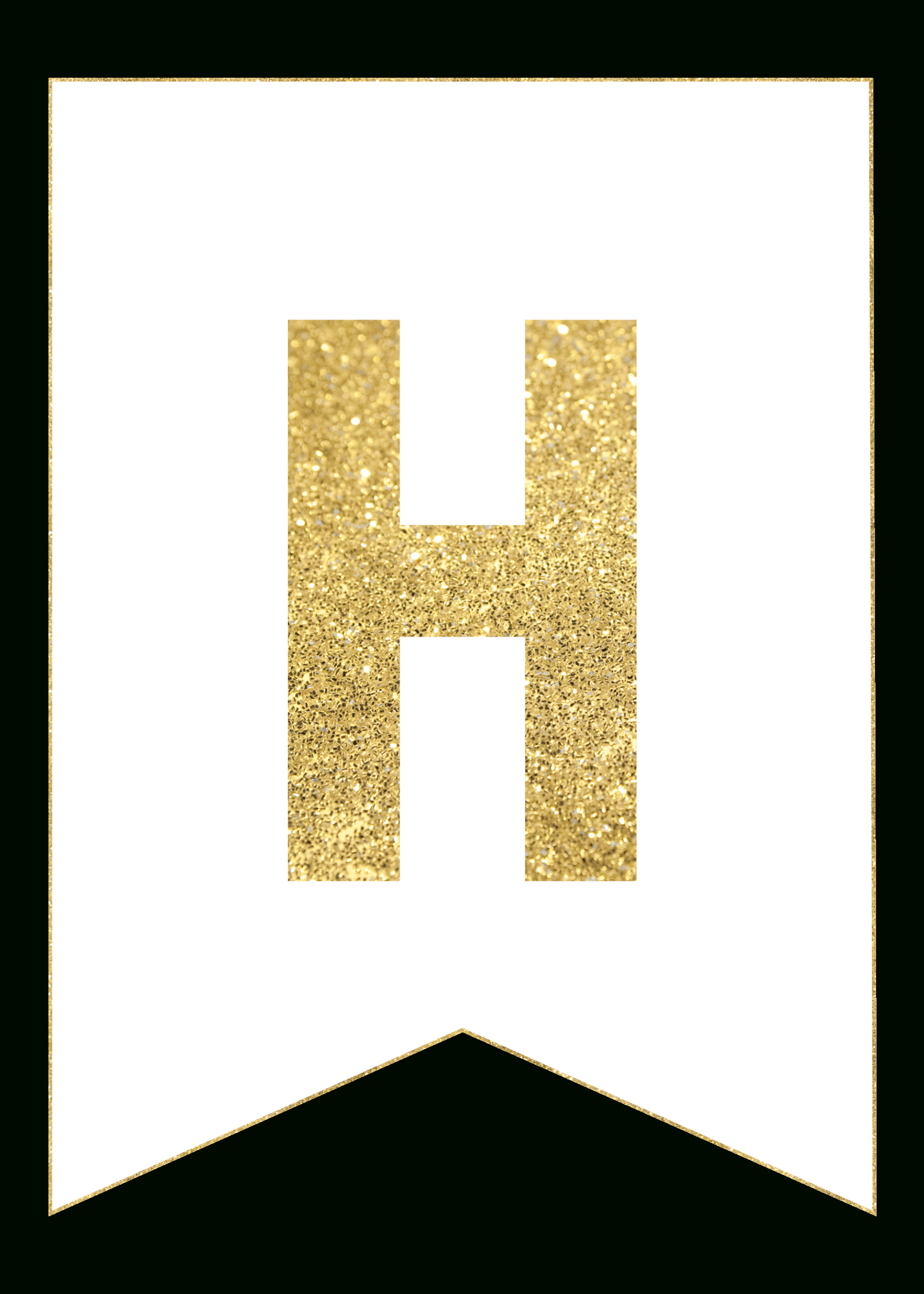 Gold Free Printable Banner Letters | Printables | Free Printable - Free Printable Banner Letters