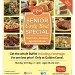 Golden Corral: Senior Early Bird Special, M F 2 4Pm, 60+, For $7.49   Free Las Vegas Buffet Coupons Printable