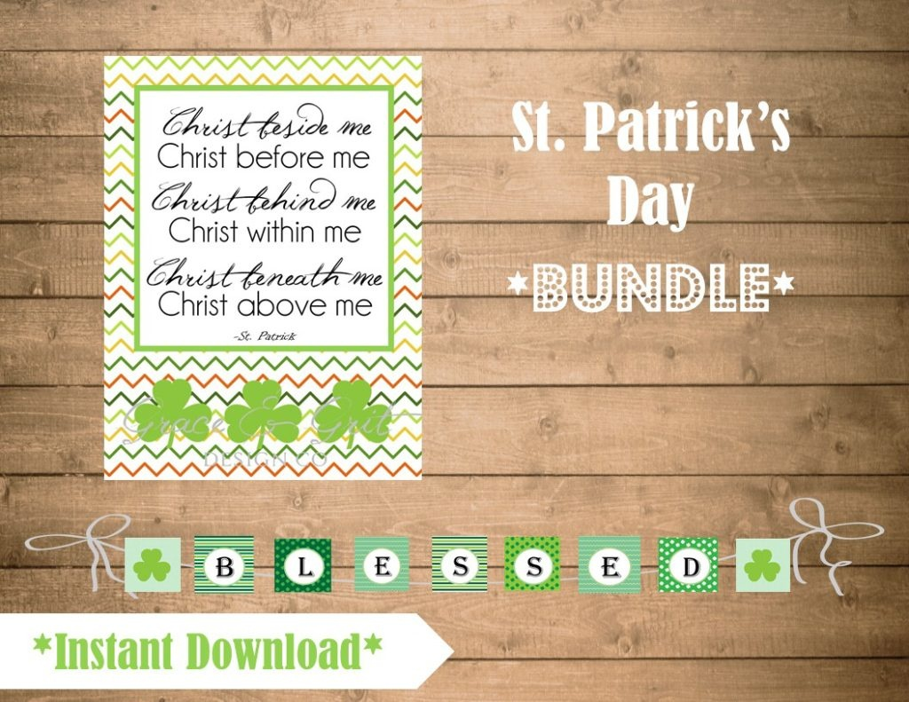 Grace & Grit Design Co. - Free Printable St Patrick's Day Banner