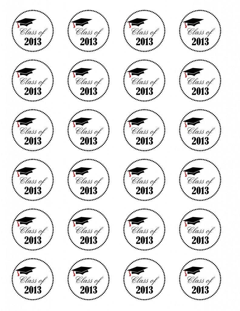 Graduation Cupcakes {Class Of 2013} Free Printable - Nola Mommy - Free Printable Graduation Cupcake Toppers