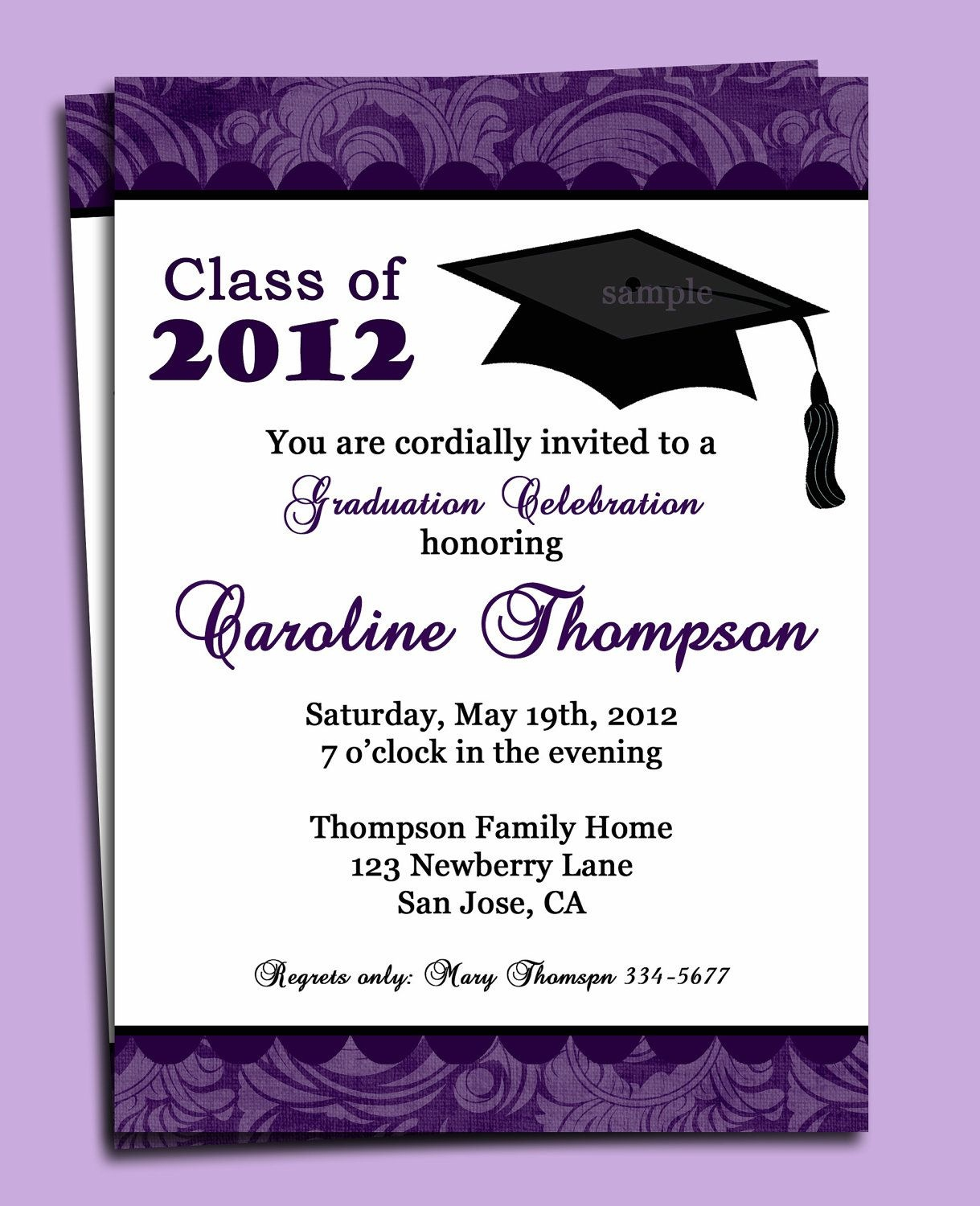 Graduation Party Or Announcement Invitation Printable - You Pick - Free Printable Graduation Dinner Invitations