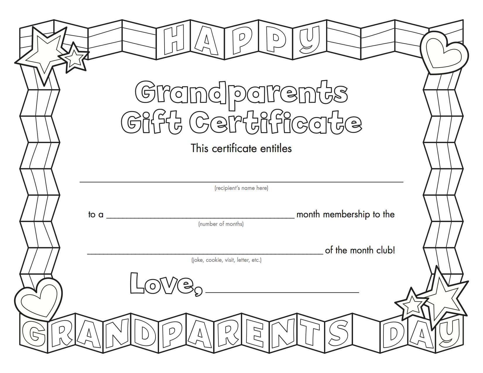 Grandparentsday_Copy | Grandparents Day | Grandparents Day - Grandparents Certificate Free Printable