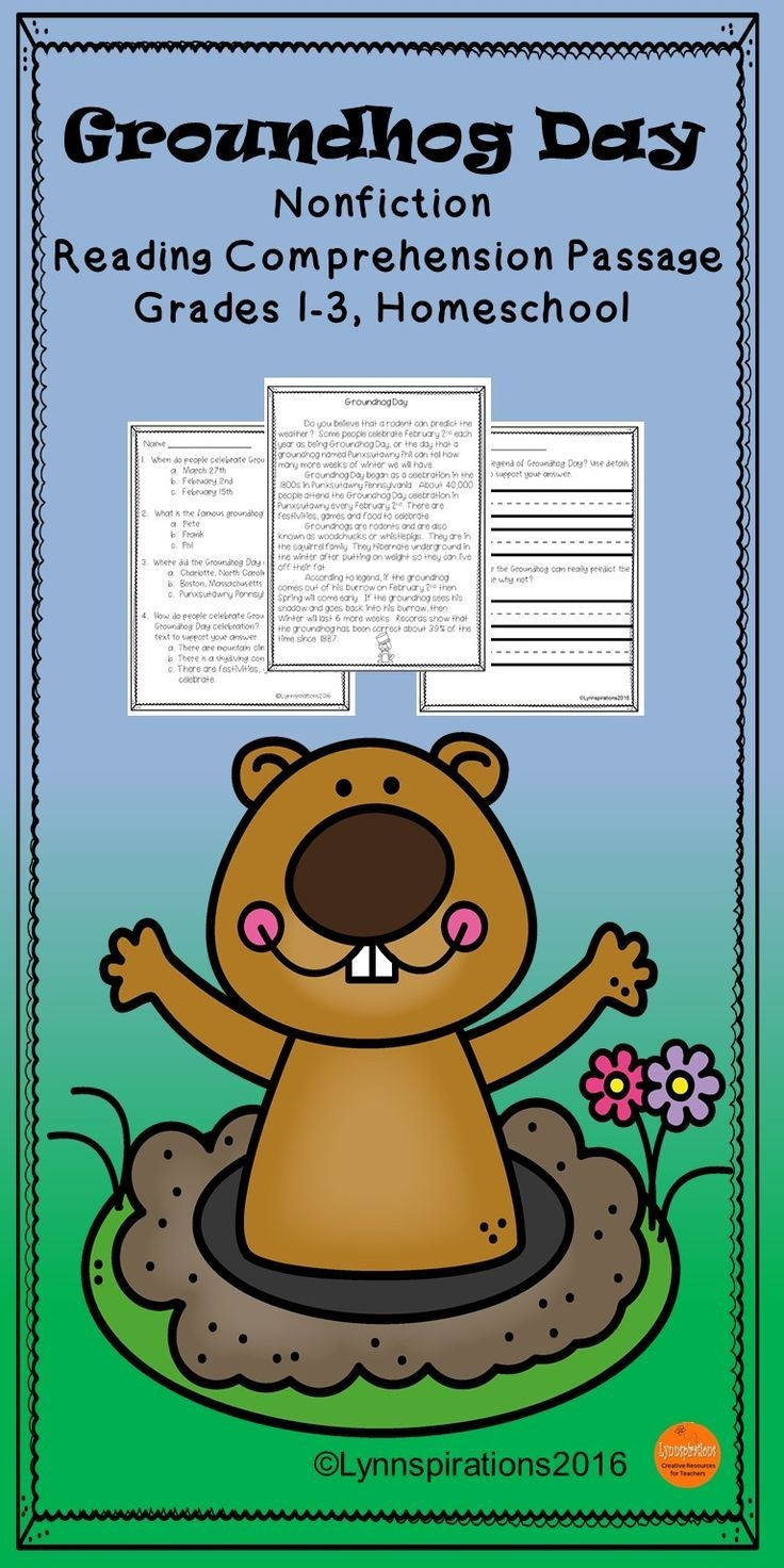 Groundhog Day Reading Comprehension | Tpt Teaching Creations - Free Printable Groundhog Day Reading Comprehension Worksheets