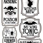 Halloween Bottle Labels   Free Printables   Potions Labels | Art   Free Printable Labels For Bottles