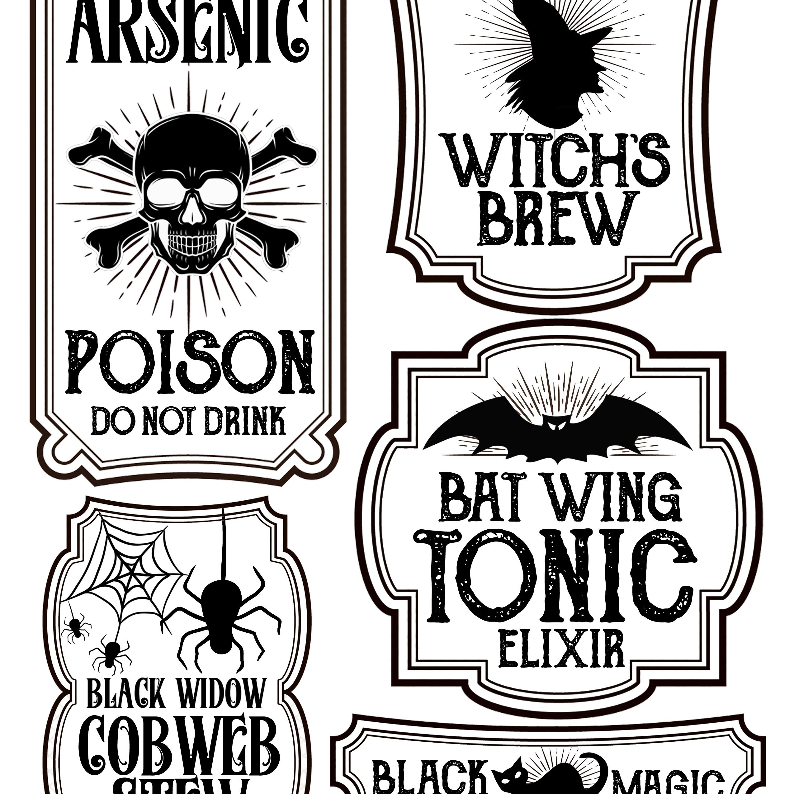 Halloween Bottle Labels - Free Printables - Potions Labels | Art - Free Printable Labels For Bottles