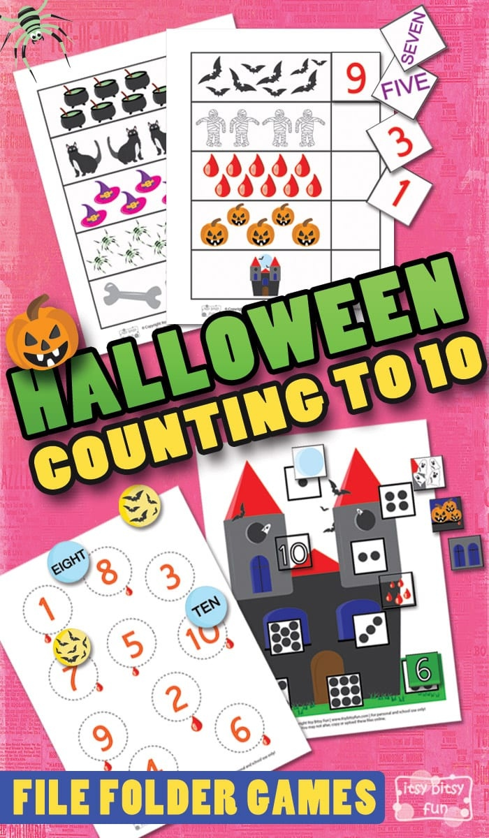 Halloween Counting To 10 File Folder Games - Itsy Bitsy Fun - Free Printable File Folder Games
