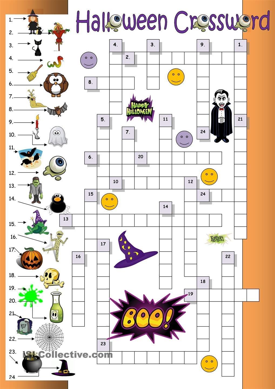 Halloween Crossword For Beginners | Esl Worksheets Of The Day - Halloween Crossword Printable Free