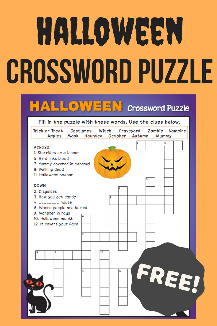 Halloween Crossword Puzzle #3 | Fall Fun | Halloween Crossword - Halloween Crossword Printable Free