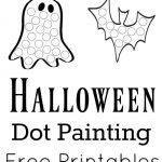 Halloween Dot Painting {Free Printables} | Halloween | Painting   Free Printable Halloween Activities