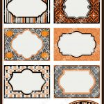 Halloween Printable Labels & Tags, For Gift Tags, Place Cards   Free Printable Damask Place Cards