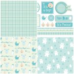 Handmade For Babies – Free Papers | Printable Papers | Digital Paper   Baby Scrapbook Templates Free Printable