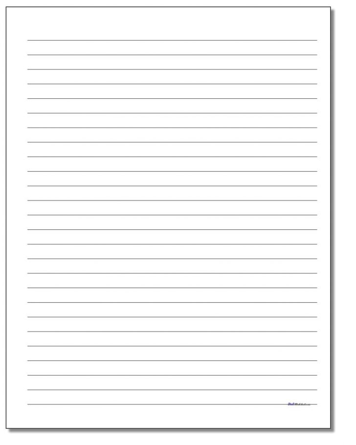 Free Printable Lined Handwriting Paper