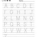 Handwriting Practice Worksheet   Free Kindergarten English Worksheet   Free Printable Handwriting Sheets For Kindergarten
