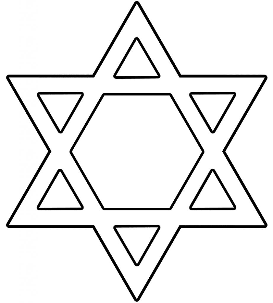 Hanukkah Coloring Pages | Free Download Best Hanukkah Coloring Pages - Star Of David Template Free Printable