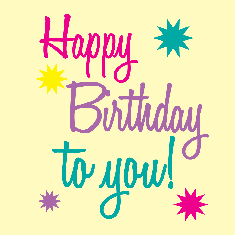 Happy Birthday Printable Art | Free Birthday Graphics Happy Birthday - Birthday Clipart Free Printable