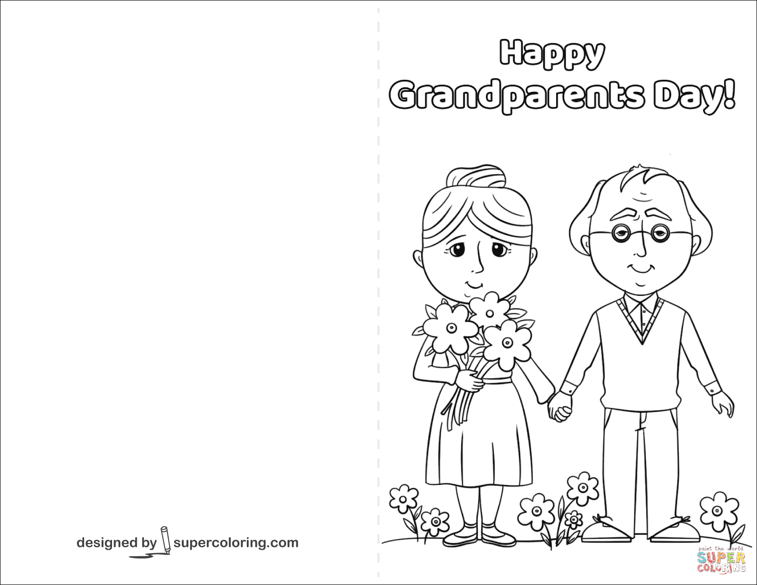 Happy Grandparents Day Card Coloring Page | Free Printable Coloring - Grandparents Day Cards Printable Free
