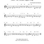 Hark! The Herald Angels Sing, Free Christmas Clarinet Sheet Music Notes   Free Printable Christmas Sheet Music For Clarinet