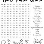 Harrypotter Free Word Search Puzzle And Planning Ideas For Universal   Word Find Maker Free Printable