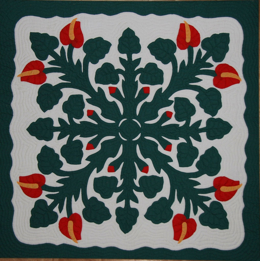 Hawaiian Quilt - Wikipedia - Free Printable Hawaiian Quilt Patterns