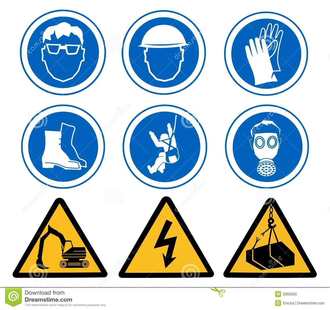 Health And Safety Signs Stock Illustration. Illustration Of Work - Free Printable Health And Safety Signs