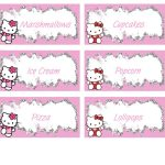 Hello Kitty Food Labels   Free Pdf Download | Birthday Party Kids   Hello Kitty Name Tags Printable Free