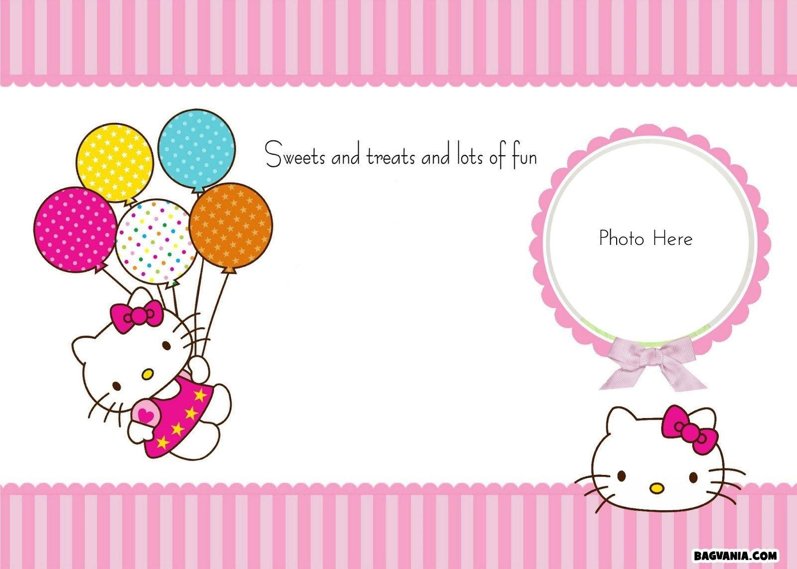 Hello Kitty Invites Free Printable - Kaza.psstech.co - Hello Kitty Free Printable Invitations For Birthday