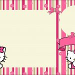 Hello Kitty With Flowers: Free Printable Invitations.   Oh My Fiesta   Hello Kitty Birthday Card Printable Free