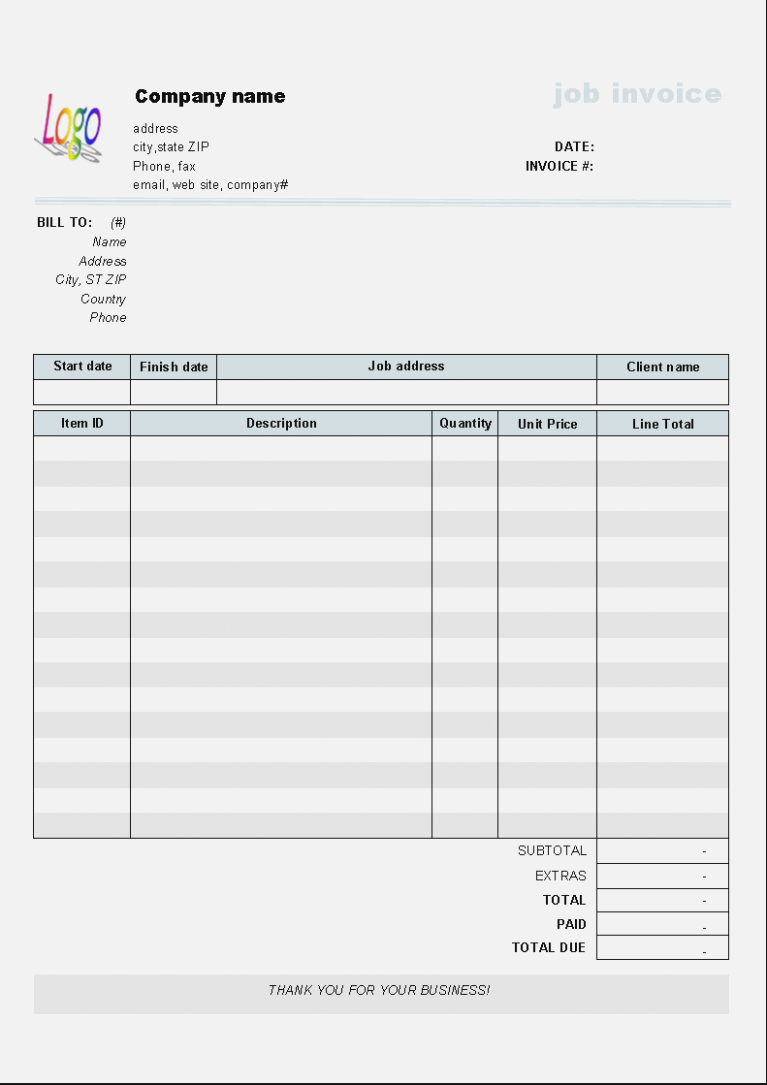 Here's What People Are | Realty Executives Mi : Invoice And Resume - Free Printable Work Invoices