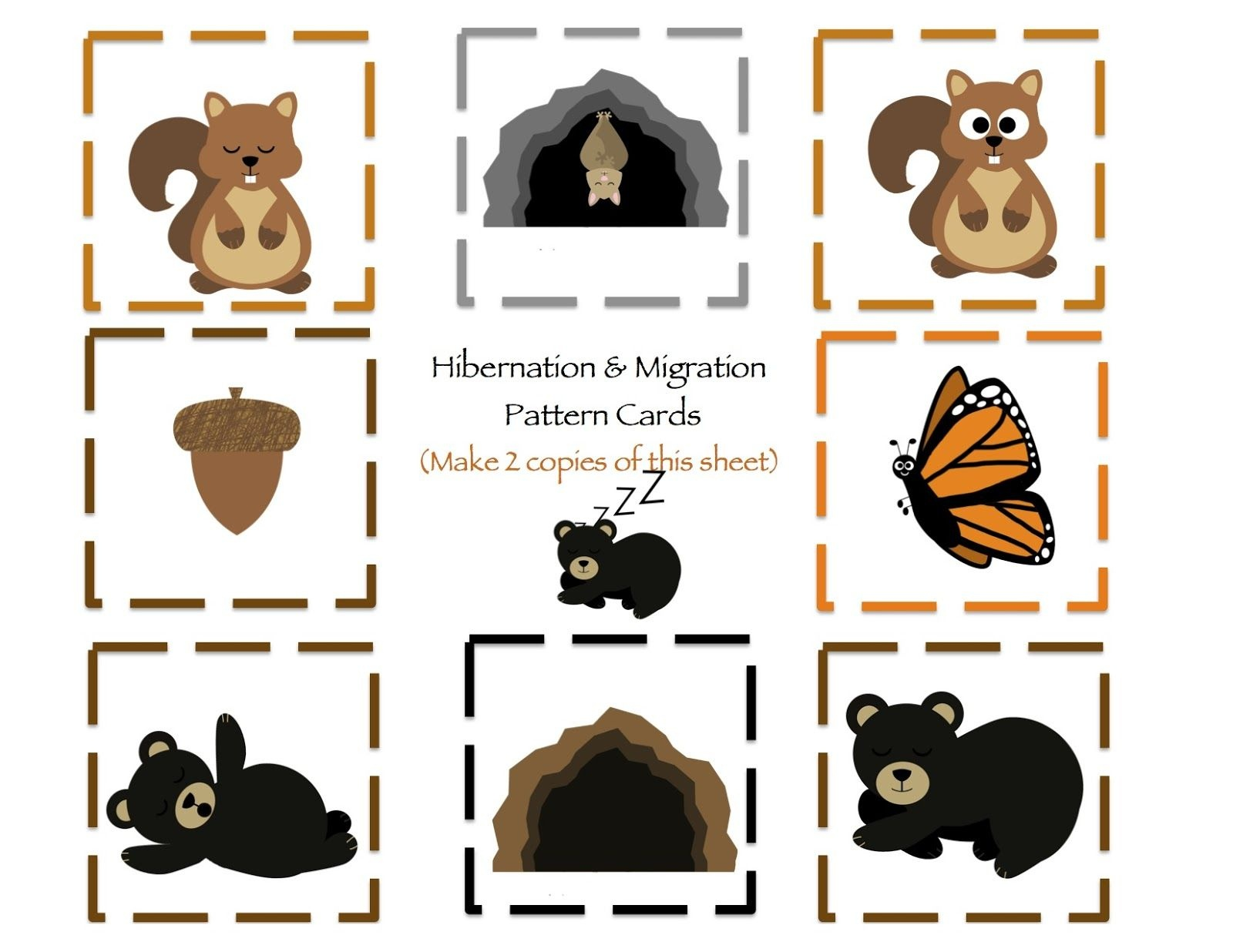 Hibernation & Migration Printable | Preschool | Preschool Printables - Free Printable Hibernation Worksheets