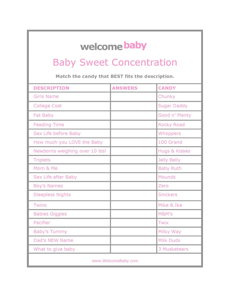 High Quality Free Baby Shower Games Printouts - Ideas House Generation - Free Baby Shower Games Printable Worksheets