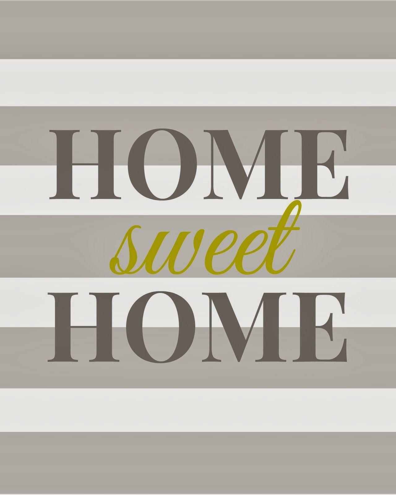 Home Sweet Home - Free Printable | Printables + Fonts | Home Decor - Home Sweet Home Free Printable