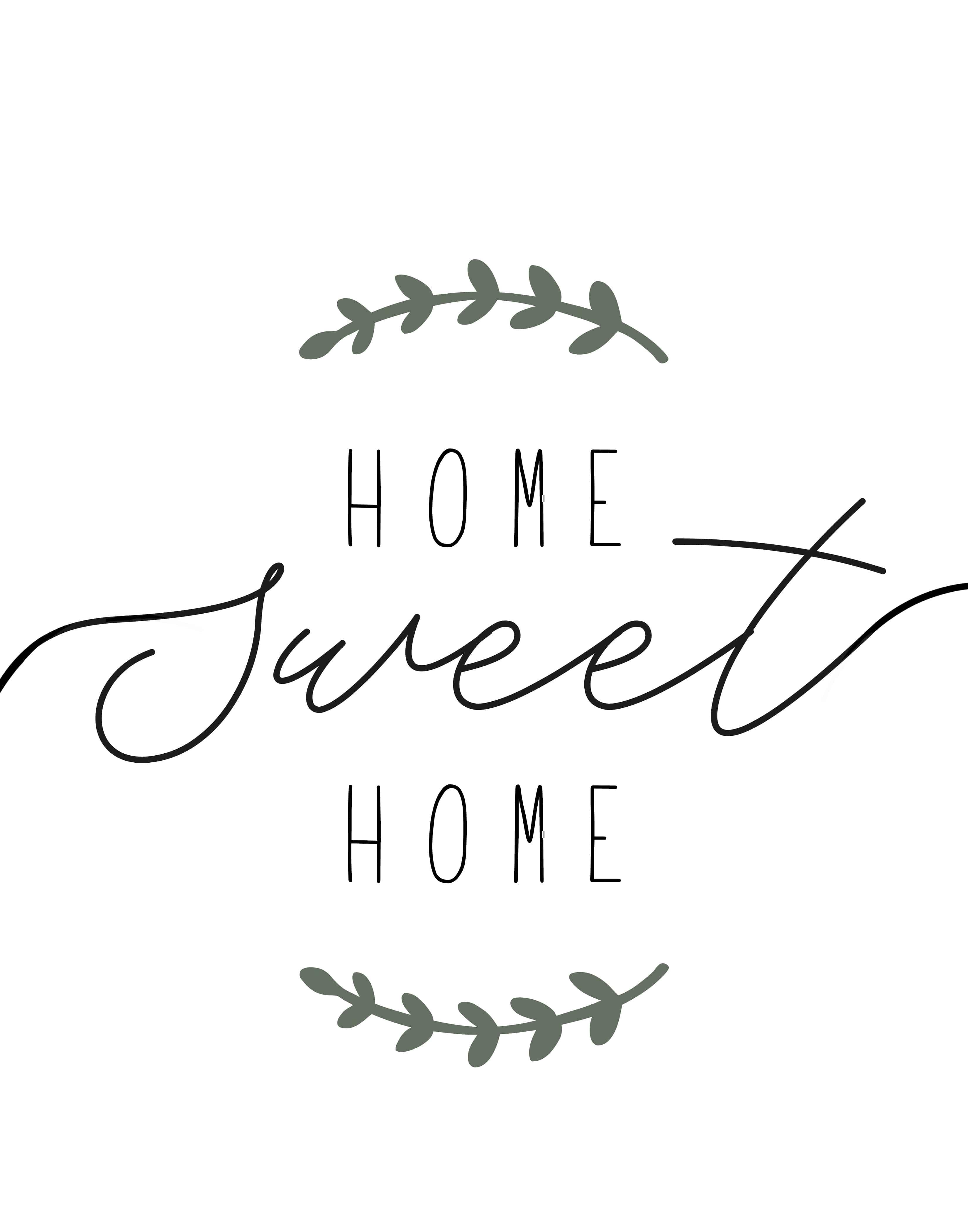 "Home Sweet Home"" Printable Farmhouse Art - Lolly Jane - Home Sweet Home Free Printable"