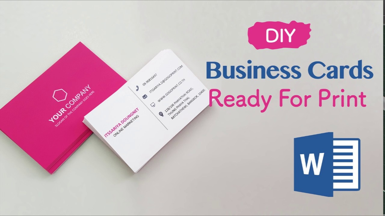 How To Create Your Business Cards In Word - Professional And Print - Make Your Own Business Cards Free Printable