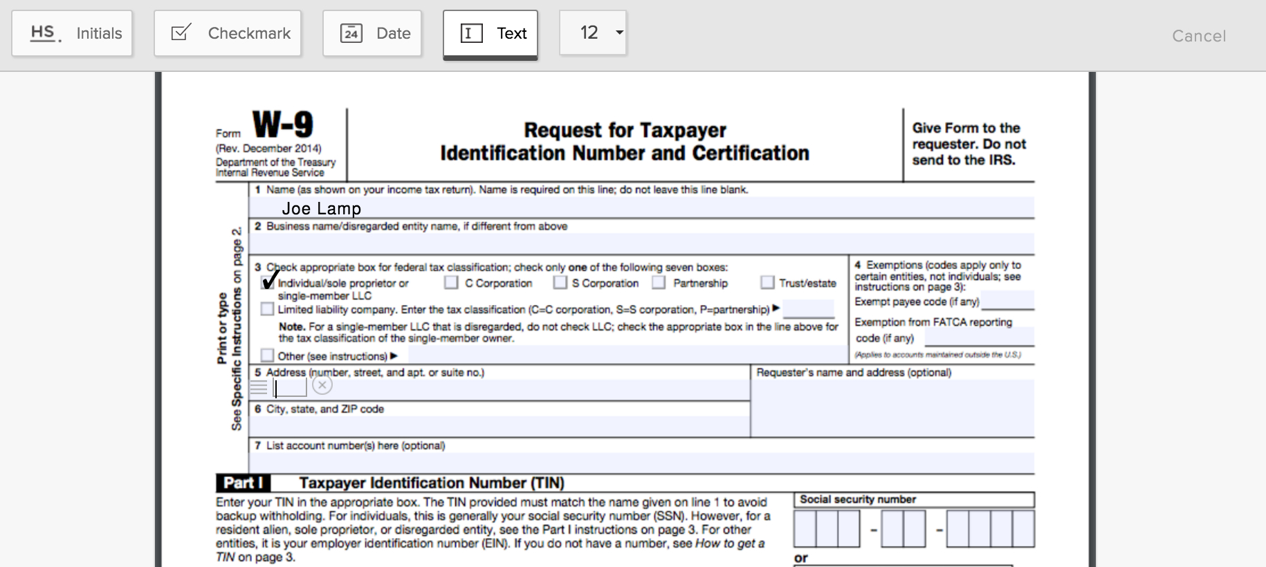 How To Fill Out A W-9 Form Online | Hellosign Blog - Free Printable I 9 Form 2016