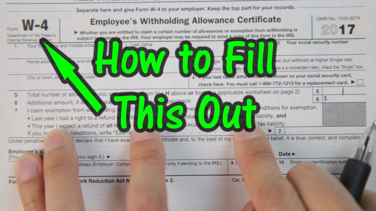 How To Fill Out Your W4 Tax Form - Youtube - Free Printable W 4 Form