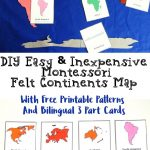 How To Make A Montessori Felt Continent Map With Free 3 Part Cards   Montessori World Map Free Printable