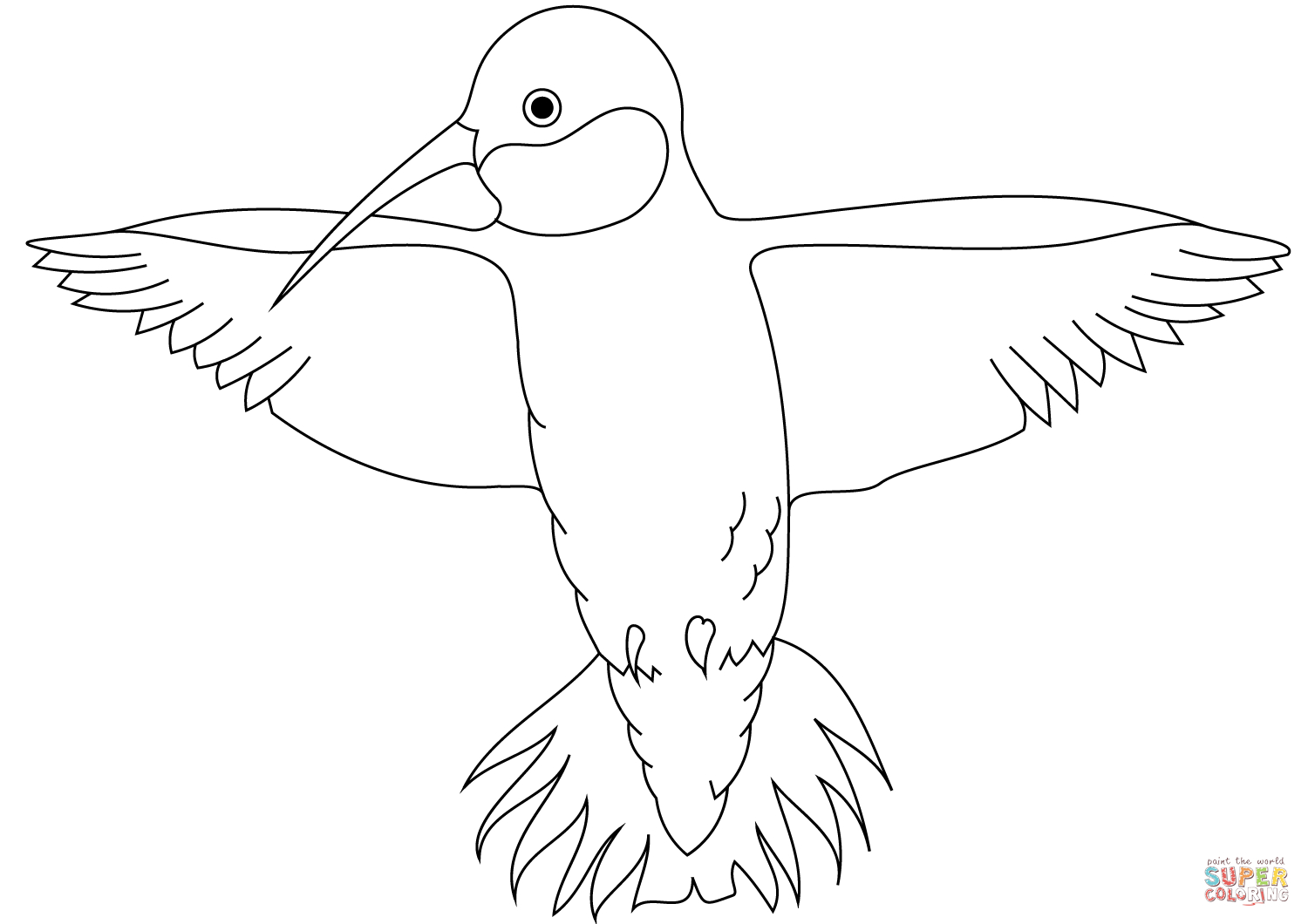 Hummingbird Coloring Page | Free Printable Coloring Pages - Free Printable Pictures Of Hummingbirds