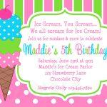 Ice Cream Birthday Party Invitations Pink Green In 2019 | Party   Ice Cream Party Invitations Printable Free