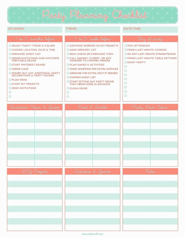 Image Result For Event Planner Free Printables | Event Planner - Free Printable Birthday Guest List