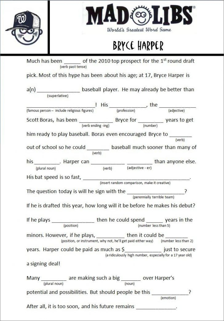 Mad Libs Online Printable Free