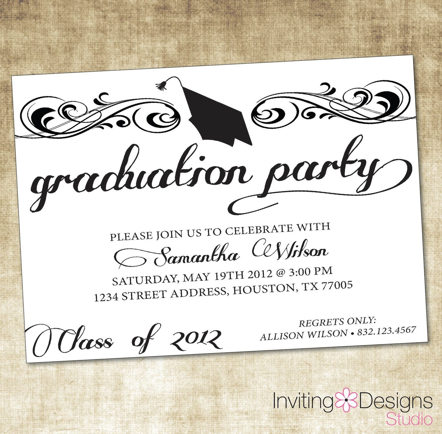 Image Result For Graduation Party Invitation Wording Ideas | Zach - Free Printable Graduation Party Invitations 2014