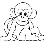 Impressive Coloring Pages Of Monkeys Fresh Cute Print Download Baby   Free Printable Monkey Coloring Sheets
