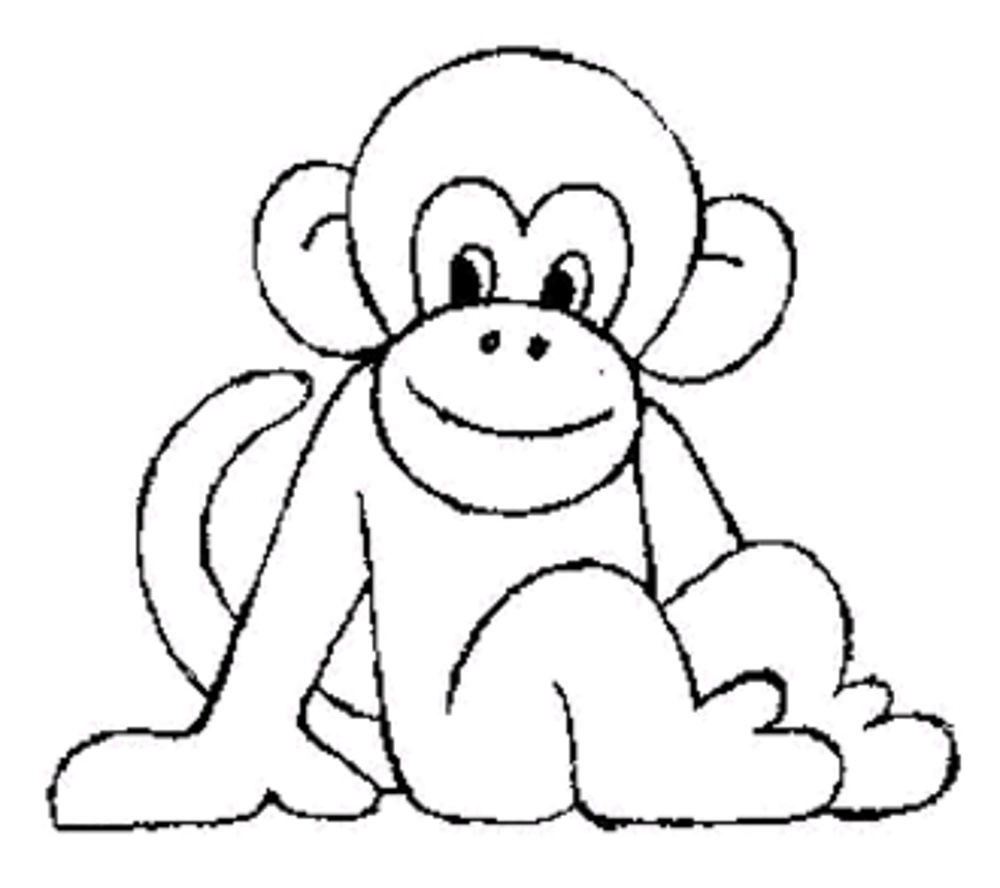 Impressive Coloring Pages Of Monkeys Fresh Cute Print Download Baby - Free Printable Monkey Coloring Sheets