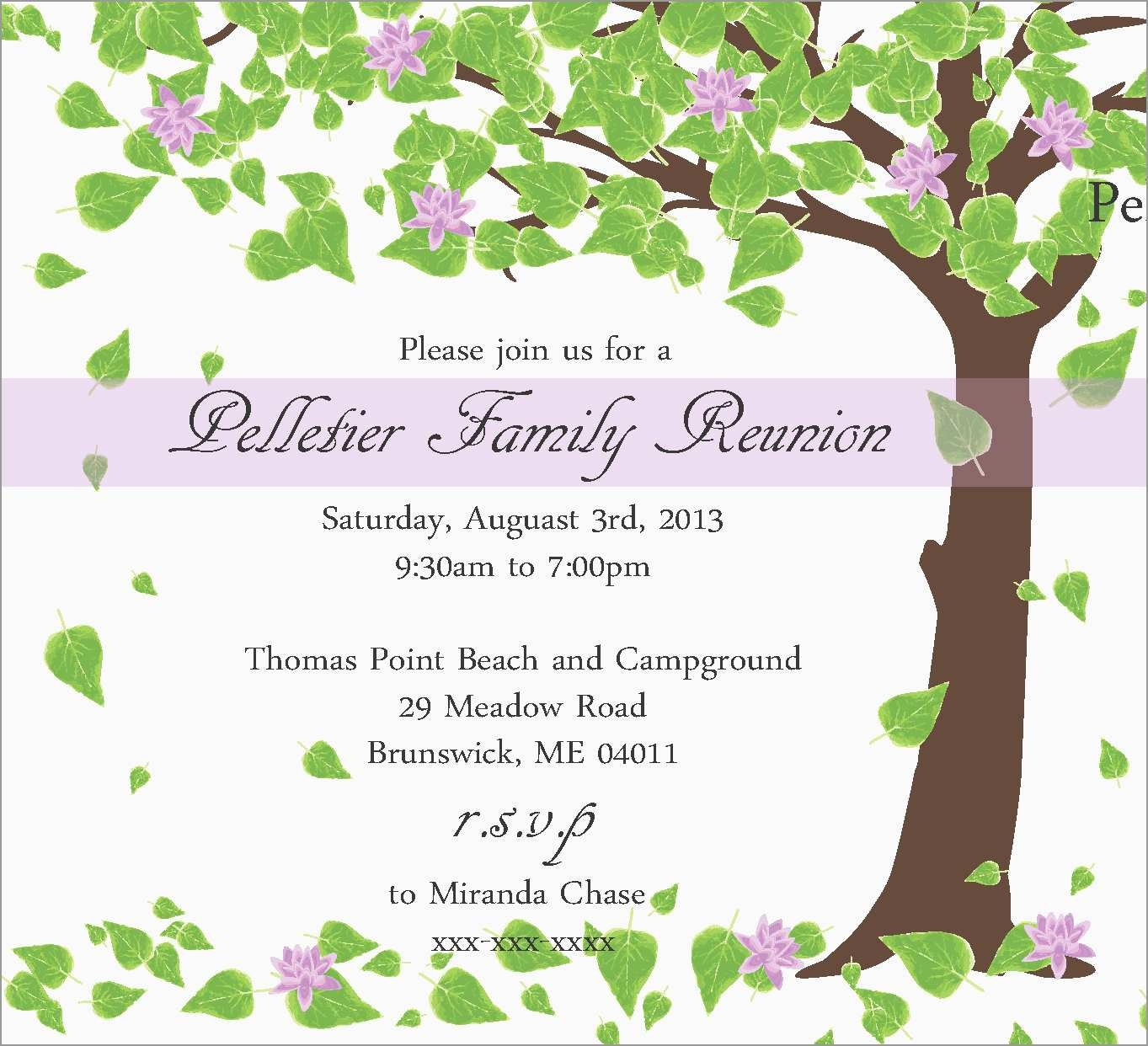 Inspirational Family Reunion Invitation Templates Free | Best Of - Free Printable Family Reunion Invitations